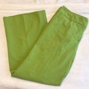 Pleated lime green dress slacks!